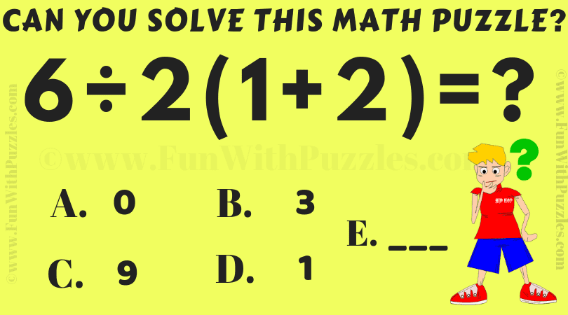 6/2(1+2)=? Can you solve this maths IQ Puzzle?