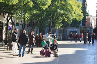 Plaça de la Revolució a la Vila de Gràcia