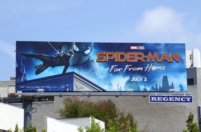 Spider-Man Far From Home billboard