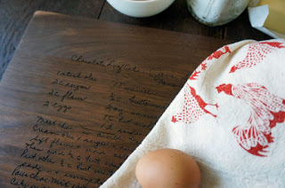 personalized handwriting cutting board from the cutting board shop