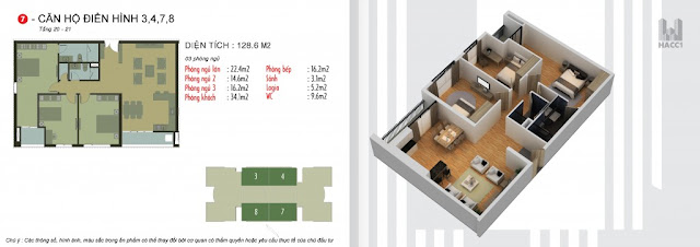 4 căn lớn ở giữa tòa N03-T5