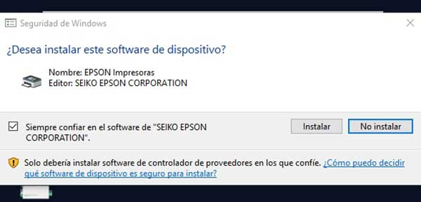 instalar software de dispositivo epson