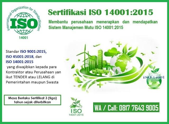 Sertifikasi ISO 14001 2015