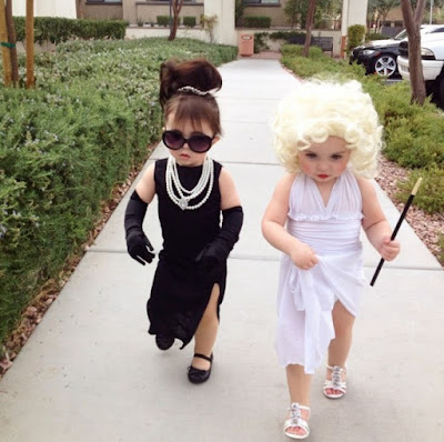 Breakfast at Tiffanys and Some Like It Hot kid Halloween COSTUMES