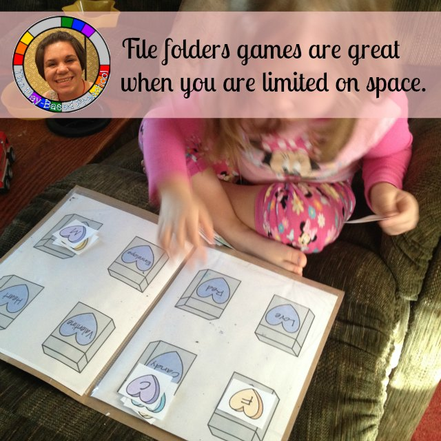 Learning activities for small space -- File Folder Games