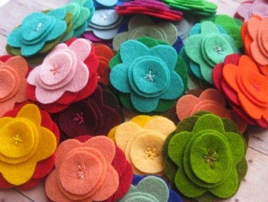 Más Patrones De Flores Y Hojas Para Fieltro: Moldes Y Diseños De Flores En Fieltro