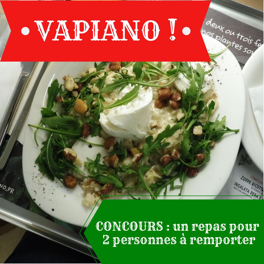 Vapiano ! #concours - Par Lili LaRochelle à Bordeaux