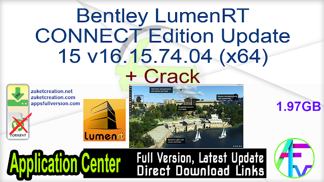 Bentley LumenRT CONNECT Edition Update 15 v16.15.74.04 (x64) + Crack