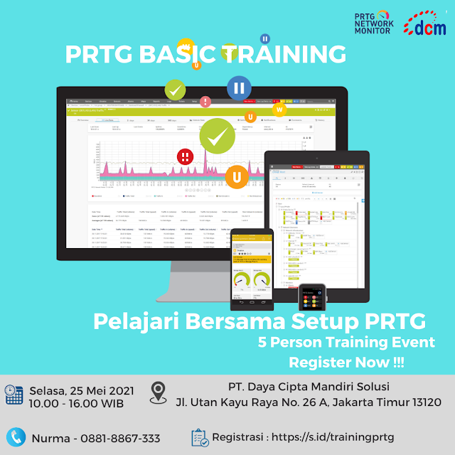 Ikutilah 5 Person Training Event PRTG Basic Training 25 Mei 2021