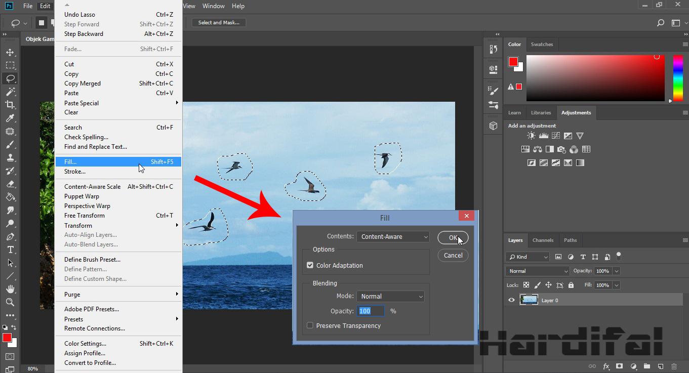 Cara Menghapus Objek Tulisan Tidak Penting Tanpa Merusak Background Di Photoshop Cc Hardifal