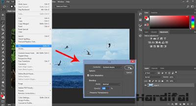 Cara Menghapus Objek / Tulisan Tidak Penting Tanpa Merusak Background di Photoshop CC