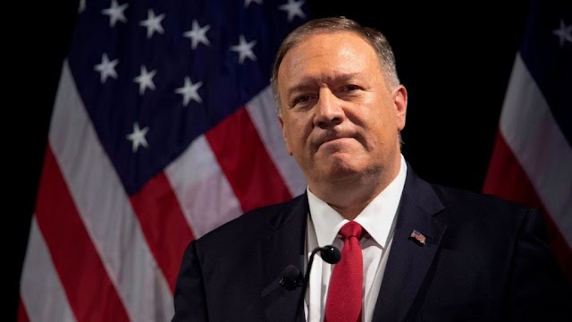 "Mike Pompeo said : ""...corrupt officials in Tehran had worked with the illegitimate regime in Venezuela to flout the UN arms embargo""."