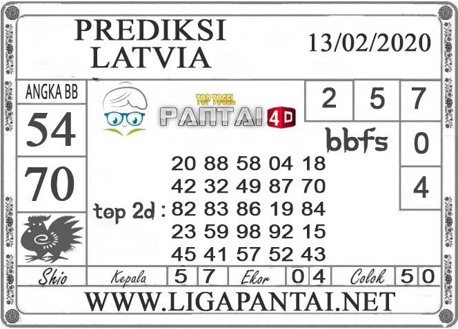 PREDIKSI TOGEL LATVIA PANTAI4D 13 FEBRUARI 2020