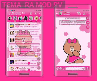 Cute Teddy Theme For YOWhatsApp & Fouad WhatsApp By Diana
