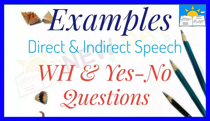 Direct and Indirect Speech of WH Questions Examples and Rules | Reported Speech WH Questions