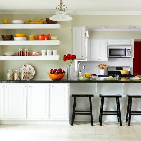 New Home Interior Design: Ideas for Kitchen Space Savers