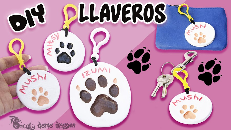 Cómo Hacer Un Llavero Con Las Huellas De Tu Perro Mascotas