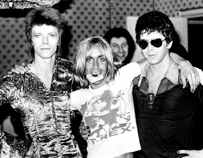 david bowie, iggy pop e lou reed