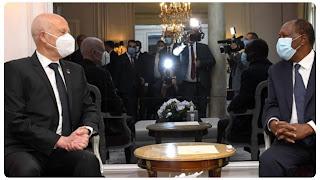 من أبرز ما تحدث عنه قيس سعيد خلال لقائه رئيس الكوت ديفوار في فرنسا إحداث مدينة الأغالبة الطبية بالقيروان