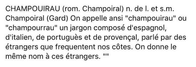 chapurriau, chapurraeo, chapurrao, chapurriau o chapurrau, cachipurrau, Mistral, occitan