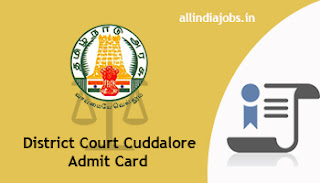 District Court Cuddalore Office Assistant Admit Card
