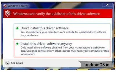 Install Samsung USB Driver di Windows