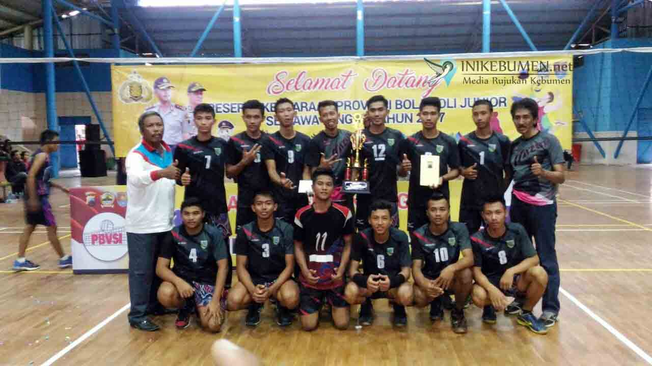 Tim Bola Voli Putra Kebumen Raih Posisi Kedua di Jateng
