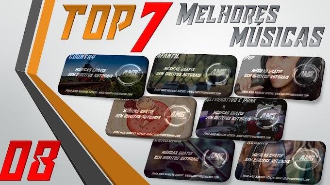 As 7 Melhores Músicas #08 Grátis free use Logo Tipo Designer