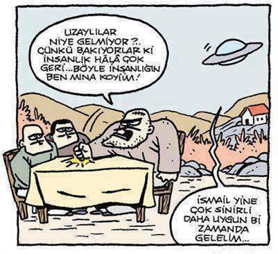 ismail ve uzaylılar karikatürü