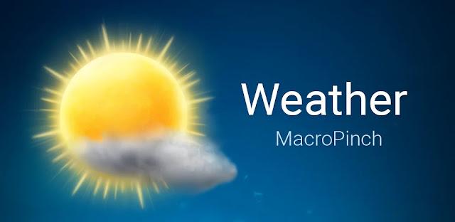 تحميل MacroPinch Weather تطبيق طقس رائع لنظام الاندرويد