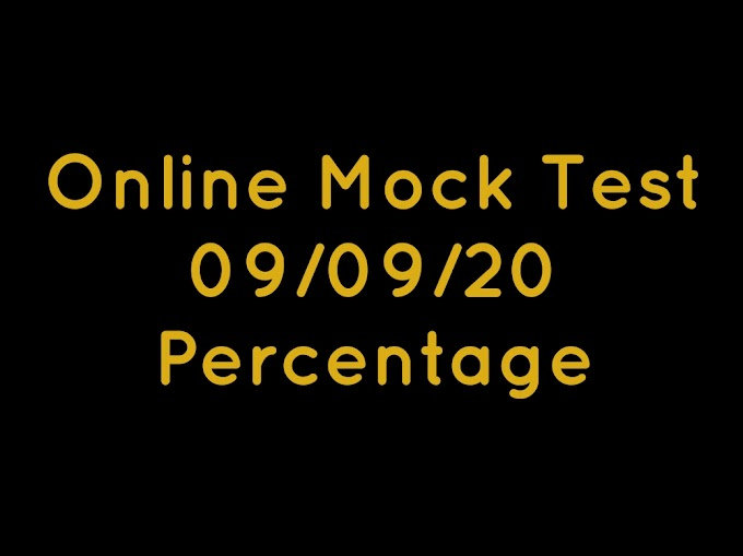 Online Mock Test -Percentage