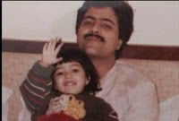 Kriti Sanon Childhood Photo With Her Father