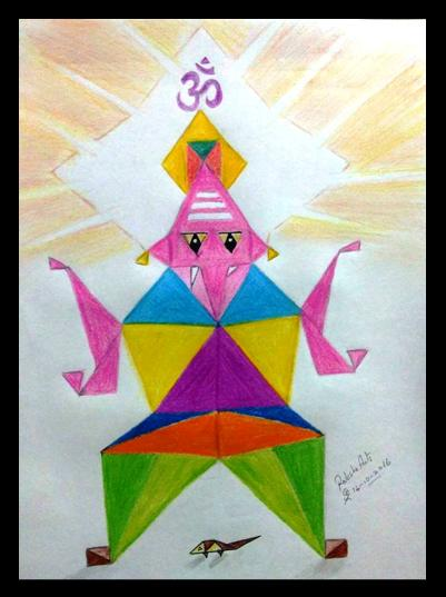 PENCIL DRAWING -  TRIANGLE VINAYAGAR