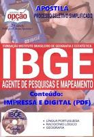 Apostila Concurso IBGE pdf AGENTE DE PESQUISAS E MAPEAMENTO 2016