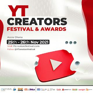 YT CREATORS FESTIVAL & AWARDS NOMINATIONS NOW OPEN