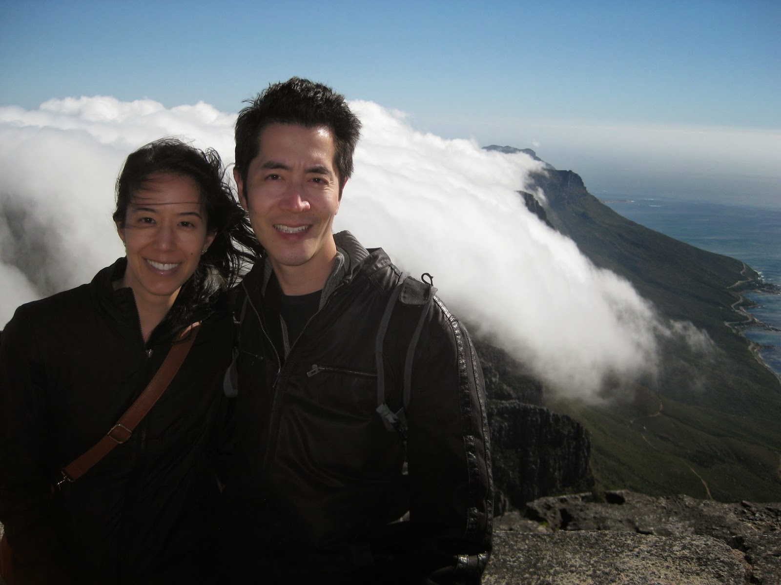 Cape Town - I'm so glad I had my jacket while we were on Table Mountain
