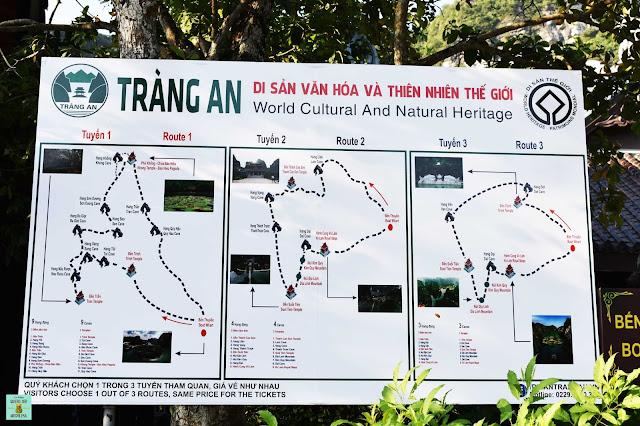 Rutas disponibles en Trang An, Ninh Binh