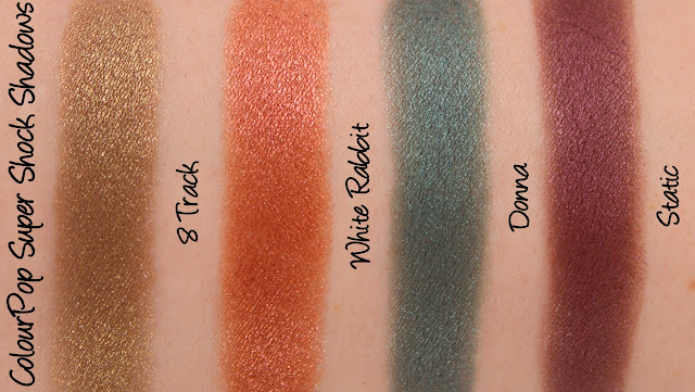 ColourPop Studio 1400 Quad Swatches & Review