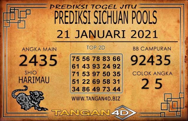 PREDIKSI TOGEL SICHUAN TANGAN4D 21 JANUARI 2021