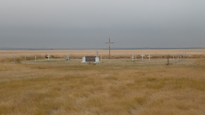 cemetery, Bow Island, Alberta, Catholic, prairie, children