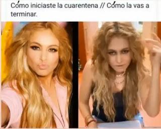 Paulina Rubio antes y después de la cuarentena