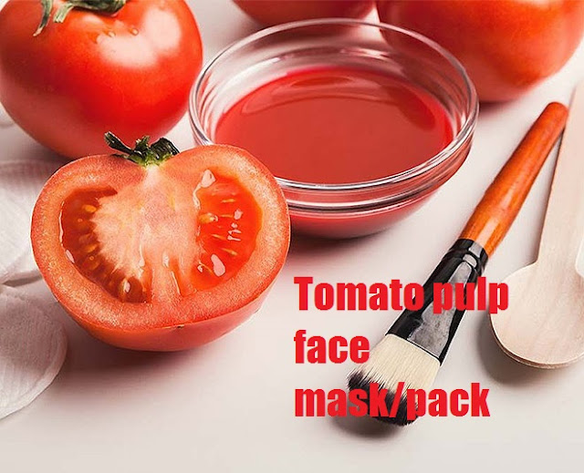 Tomato pulp face mask/pack newstrends