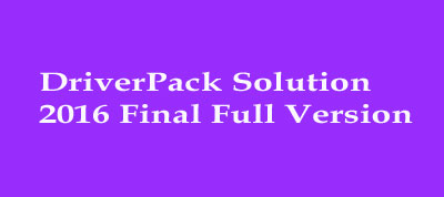 driver pack solution 2016