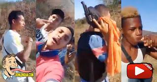 Delincuentes venezolanos pasean armados en la frontera con Colombia