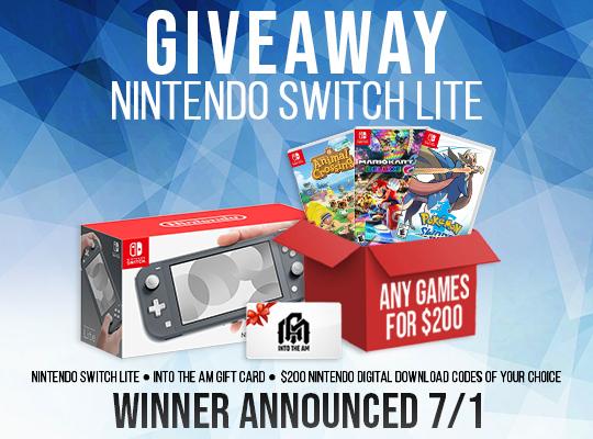 Sorteio de um Nintendo Switch Lite + $200 em jogos + Gift Card de $100