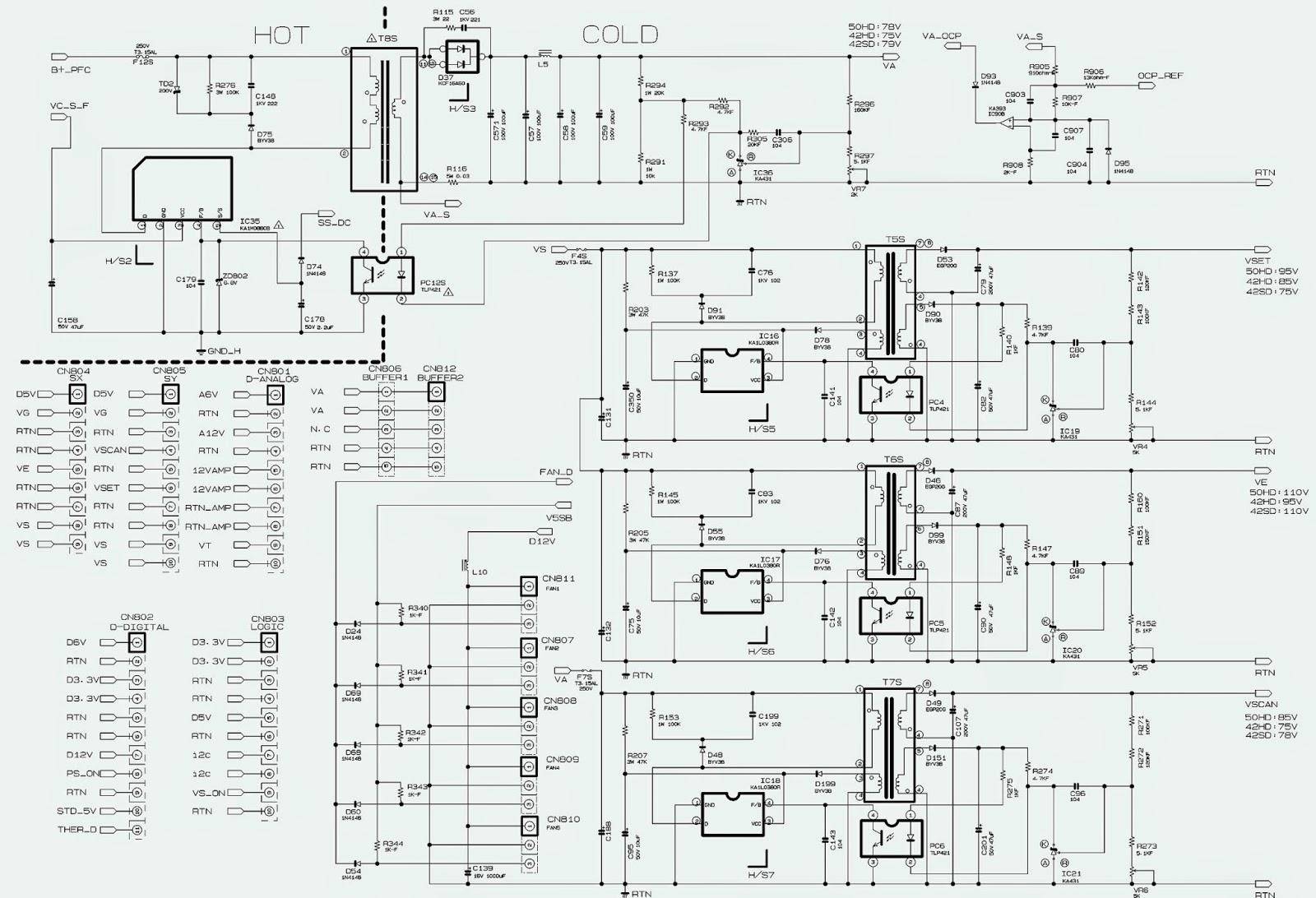 BN 96  SAMSUNG POWER SUPPLY SCHEMATIC (Circuit Diagram)
