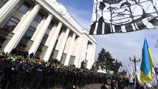 Oposición ucraniana realiza protesta antigubernamental en Kiev