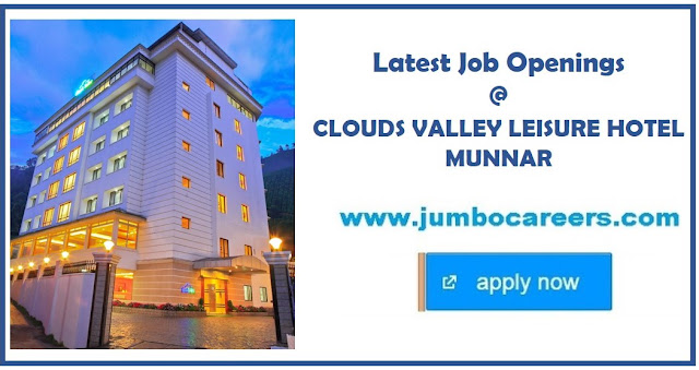 hotel jobs in munnar, hotel management jobs in munnar, maintenance department jobs in munnar hotels