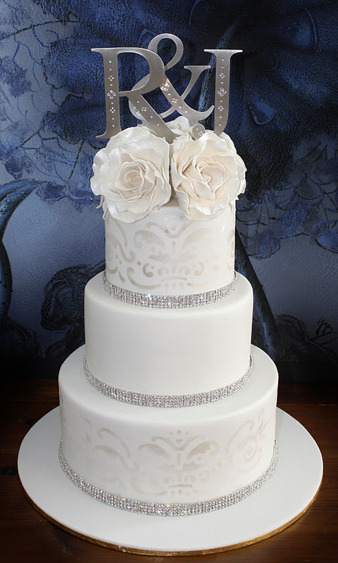 Sandy S Cakes Ryan Amp Jess S Stunning Wedding Cake