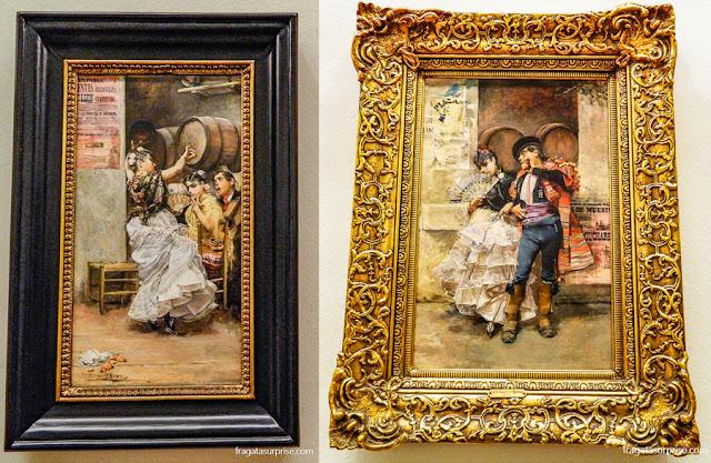 Cenas sevilhanas pintadas por José García Ramos, no Museu de Belas Artes de Sevilha